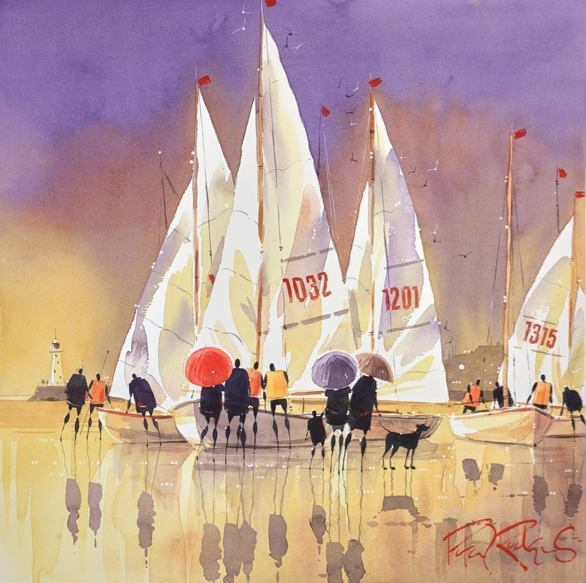 Preparing for the Race by Peter J Rodgers -  sized 16x16 inches. Available from Whitewall Galleries